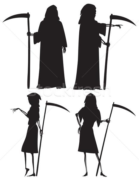 Sinistre vecteur silhouettes femme séparé Photo stock © Tawng