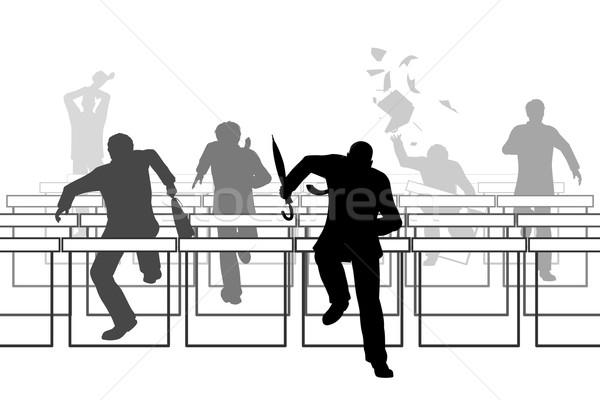 Hurdling businessmen Stock photo © Tawng