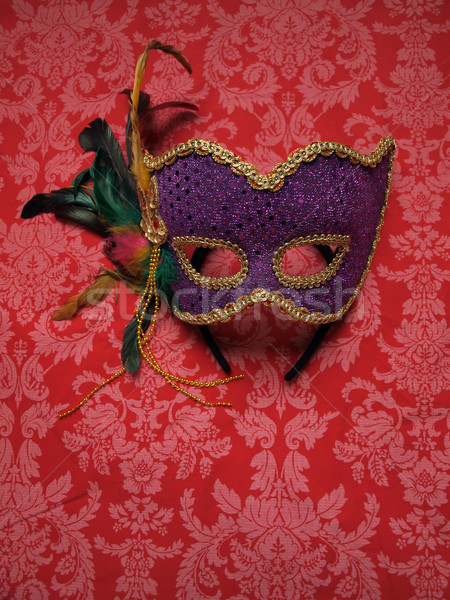 Karnaval maske kumaş fotoğraf dekoratif Stok fotoğraf © tdoes