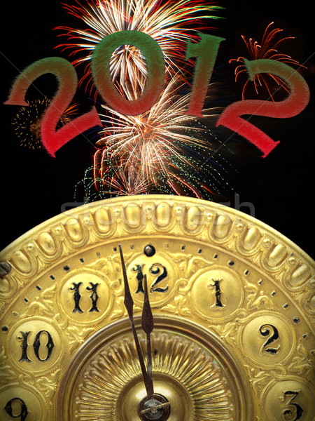 new years 2012 strikes twelve Stock photo © tdoes