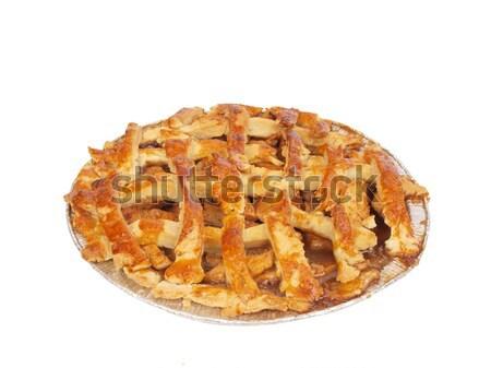 Almás pite házi készítésű izolált fotó ki Stock fotó © tdoes
