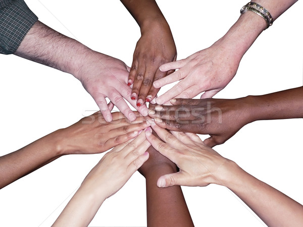diverse team stacked hands Stock photo © tdoes