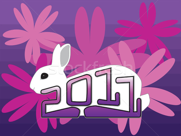 newyearrabbit Stock photo © tdoes