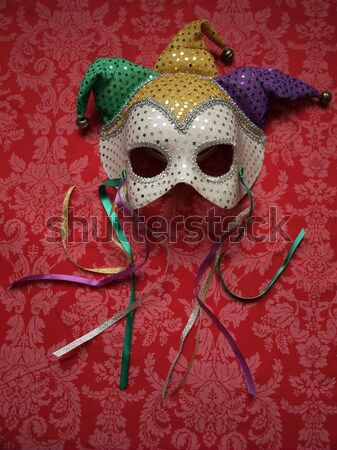 carnival masks on red Stock photo © tdoes