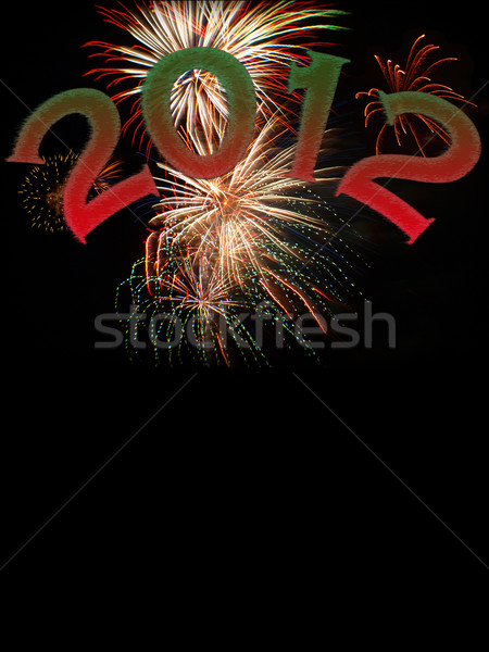new years 2012 with copy space Stock photo © tdoes