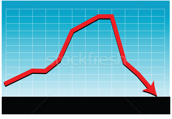 sales loss chart vector Stock photo © tdoes