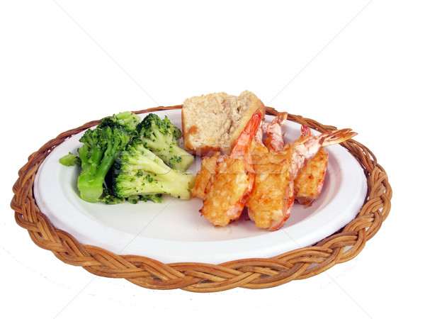 stuffed shrimp dinner 2 Stock photo © tdoes