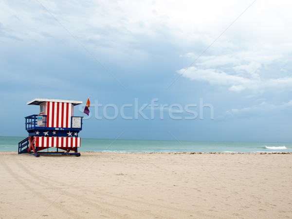 South Beach lifeguard stand Stock photo © tdoes