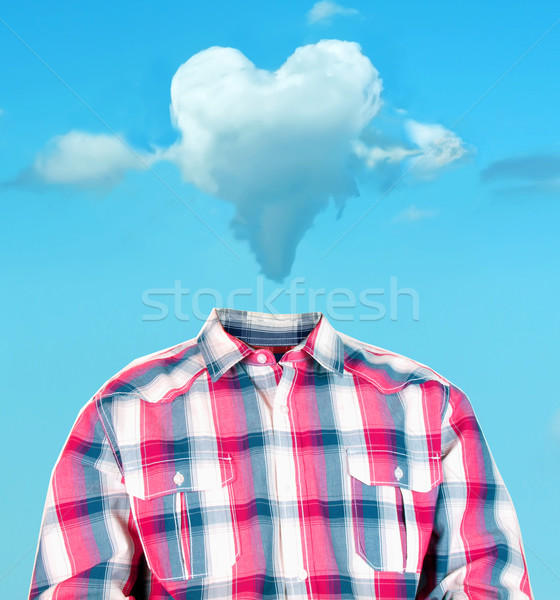 heart cloud head Stock photo © tdoes