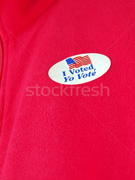 Adesivo votar político política eleição Foto stock © tdoes