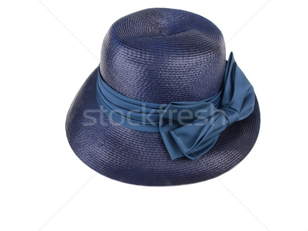 vintage hat - blue straw dress1 Stock photo © tdoes