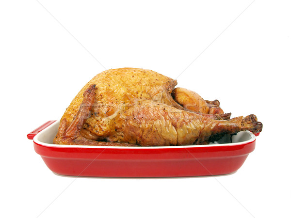 smoked turkey in a tray Stock photo © tdoes