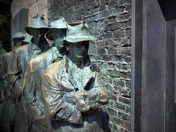 FDR Memorial Great Depression statue Stock photo © tdoes
