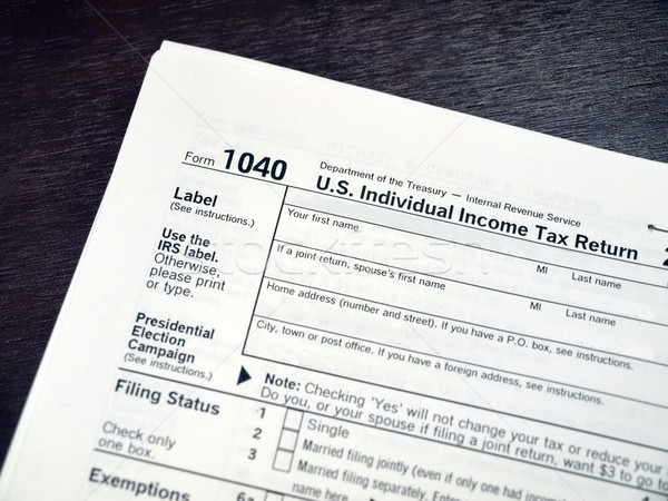 income tax form 3 Stock photo © tdoes