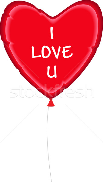 Valentin coeur ballon dessin amour Photo stock © tdoes