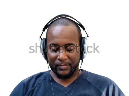 man wearing headphones Stock photo © tdoes