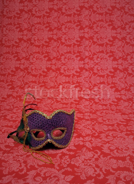 carnival mask on red Stock photo © tdoes