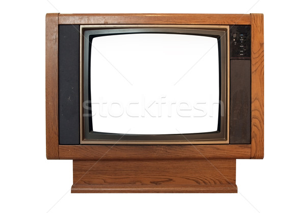 television - vintage floor model w-blank screen Stock photo © tdoes