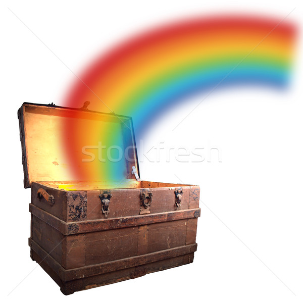 treasure chest with rainbow Stock photo © tdoes