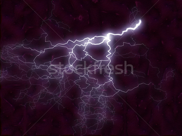 fractal background - lightning bolt and energy flames 2 Stock photo © tdoes