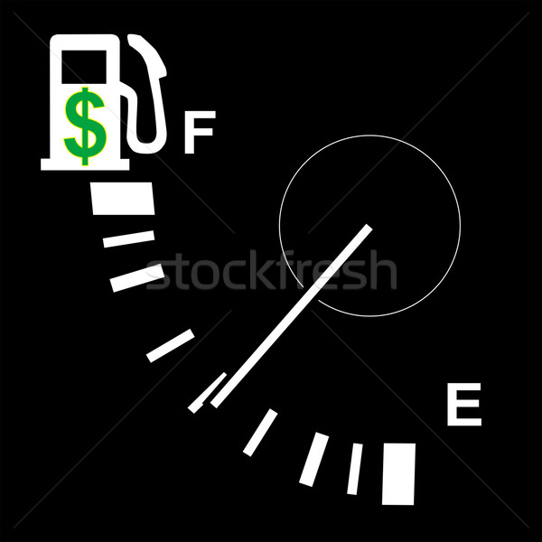 hi gas price fuel gauge Stock photo © tdoes