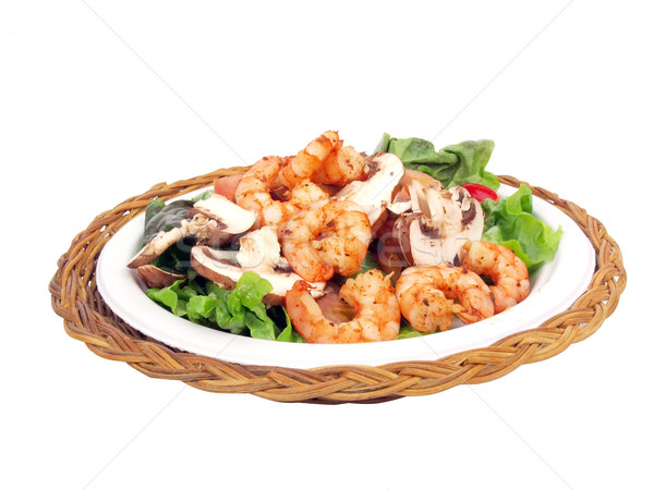 salad with shrimp Stock photo © tdoes
