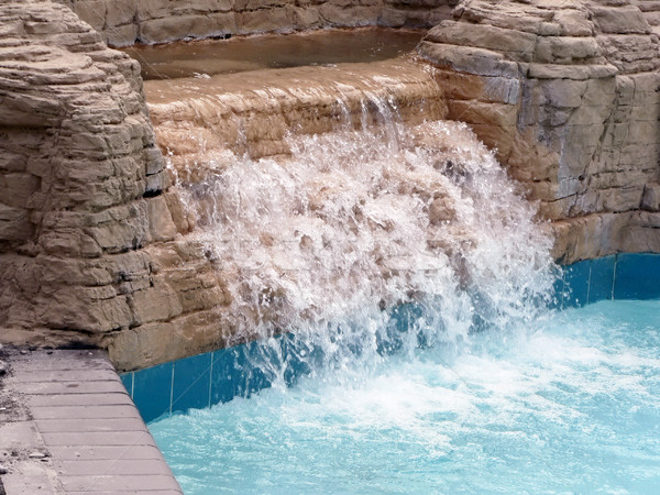 pool - close up of waterfall in a outdoor pool Stock photo © tdoes