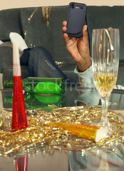 new years eve instagram Stock photo © tdoes