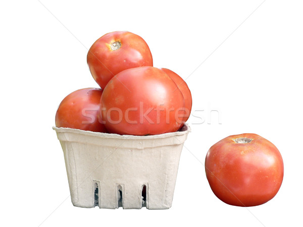 tomatoes in basket isolated Stock photo © tdoes