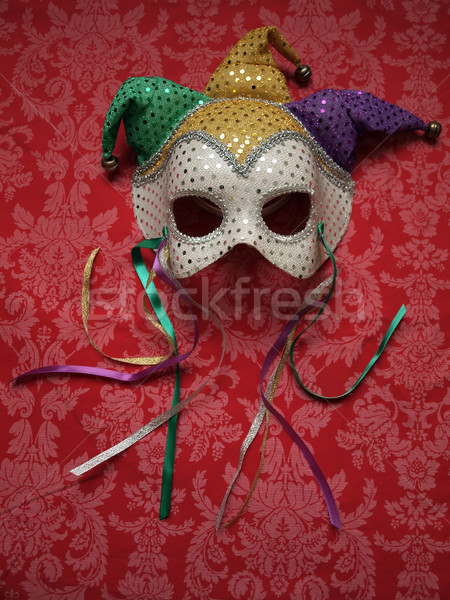 carnival mask on fabric 9 Stock photo © tdoes