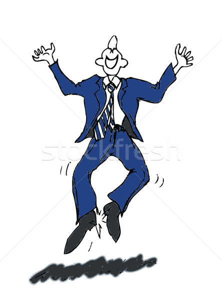 happy businessman vector Stock photo © tdoes