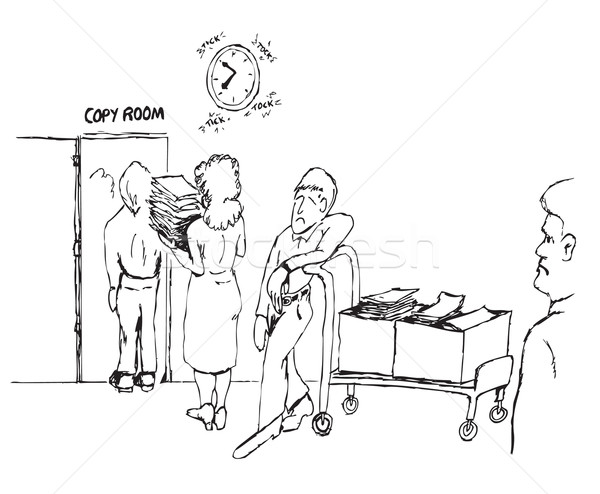 copy room cartoon Stock photo © tdoes