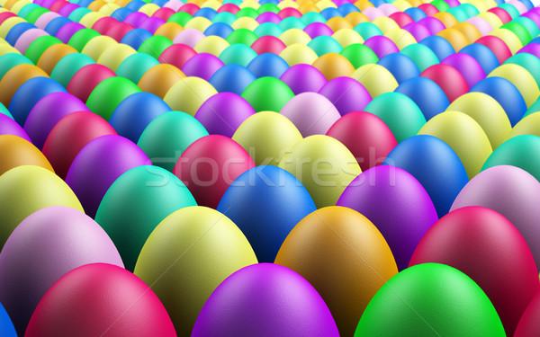 Nieskończony Easter Eggs nieskończony 3D świadczonych Zdjęcia stock © TeamC