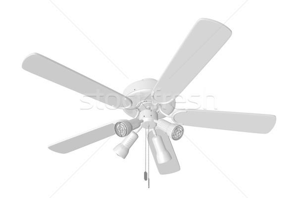 Odizolowany sufit fan 3D świadczonych biały Zdjęcia stock © TeamC