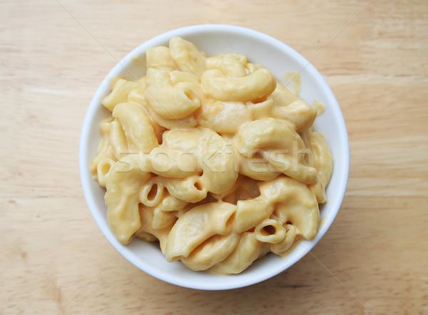 Macaroni kaas witte kom slager pasta Stockfoto © TeamC