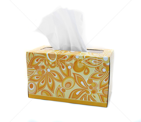 Isolated Yellow and Orange Box of Tissues Stock photo © TeamC