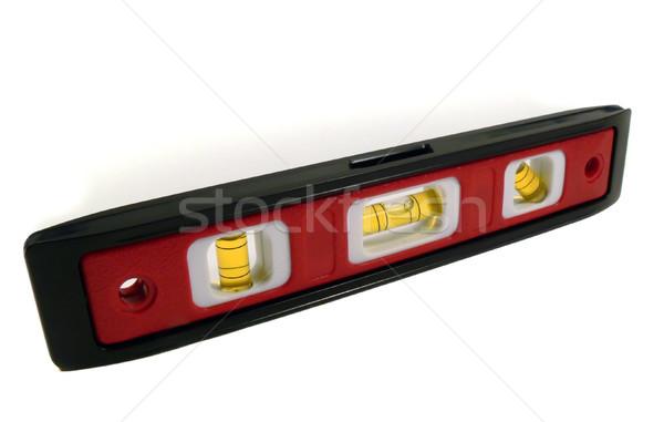 Bańka poziom odizolowany narzędzia pęcherzyki biały Zdjęcia stock © TeamC