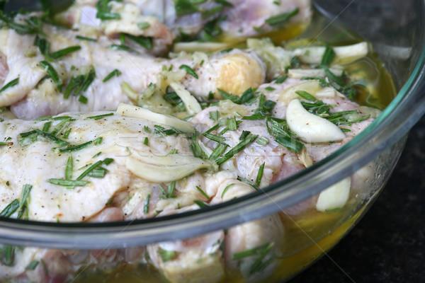 Cytryny kurczaka żywności kuchnia warzyw biały Zdjęcia stock © TeamC