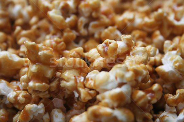 Karamel popcorn laag veld detail Stockfoto © TeamC