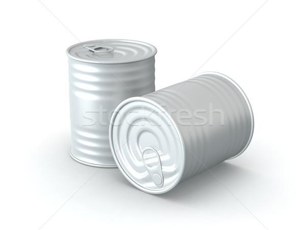 Odizolowany cyna 3D świadczonych projektu tle Zdjęcia stock © TeamC