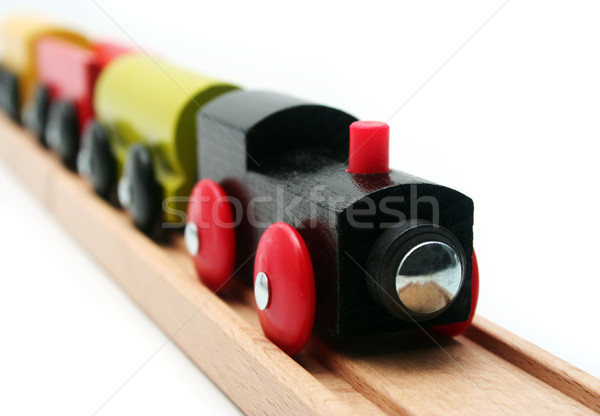 Stock photo: Isolated Toy Train