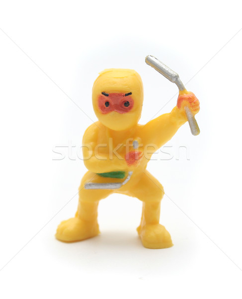 Yellow toy ninja Stock photo © TeamC