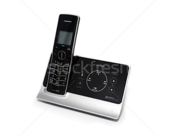 孤立した 黒 銀 コードレス 電話 現代 ストックフォト © TeamC