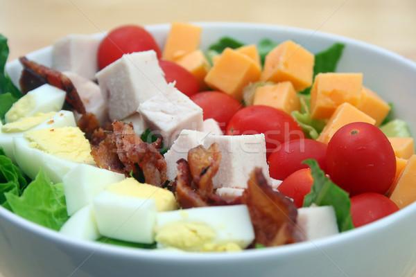 Sałatka biały puchar jaj kurczaka Zdjęcia stock © TeamC