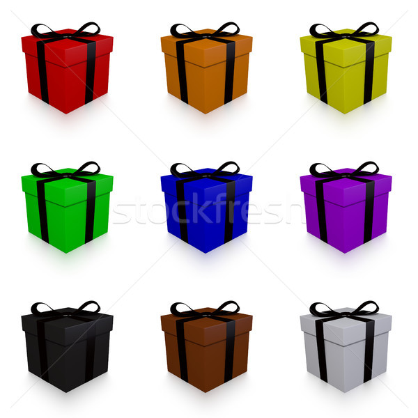Isolated 3d Rendered Presents Stock photo © TeamC