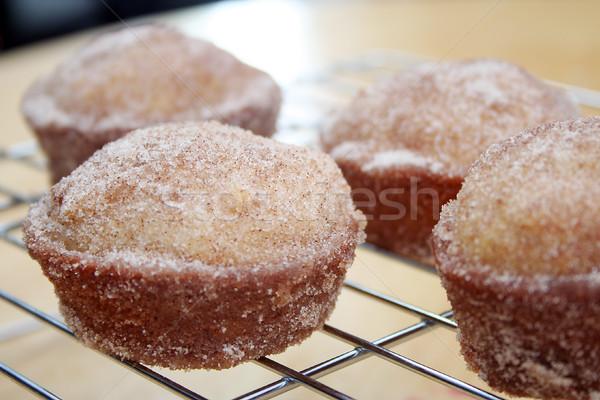 Donut muffins koeling rack voedsel Stockfoto © TeamC