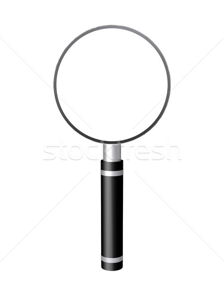3d czarny srebrny lupą komputera wygenerowany Zdjęcia stock © TeamC