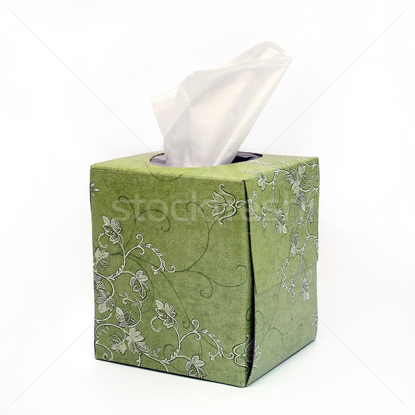 Isolated Green Tissue Box Stock photo © TeamC