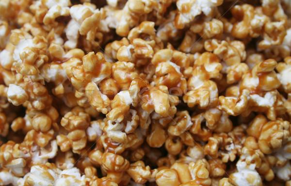 Karamel popcorn textuur voedsel vak Stockfoto © TeamC