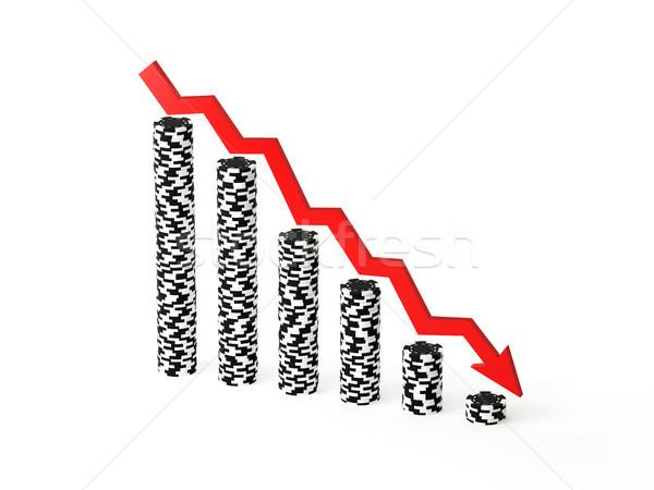 Losing Stacks of Poker Chips Stock photo © TeamC
